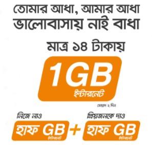 Banglalink Valentine's Day Offer 2018 – 1GB@14TK