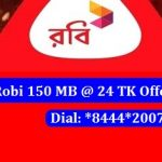 Robi 150 MB Internet 24 TK Offer