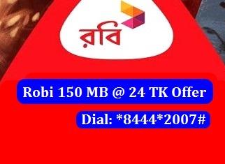 Robi 150 MB Internet 24 TK Offer