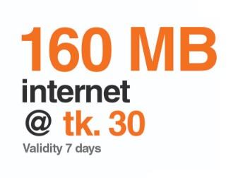 Banglalink 160 MB Internet 30 TK Offer