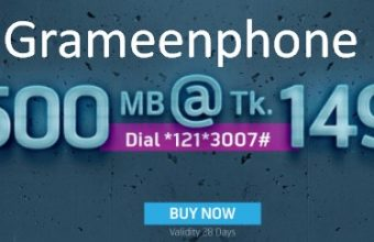GP 500 MB 149 TK 28Days Validity Internet Offer