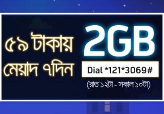 GP Night Pack 2017 Offer 2GB 59 TK