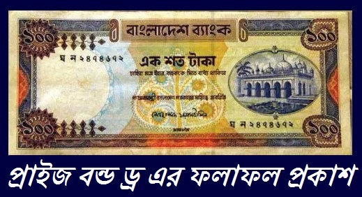 Bangladesh Bank Prize Bond Lottery Draw Result of 100 TK - www.bb.org.bd