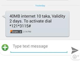 GP 40 MB 10 TK Internet Offer
