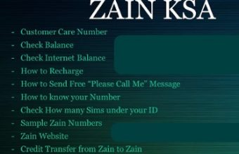 Zain Mobile KSA All Important Info