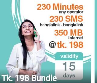 Banglalink 198 TK Bundle Offer