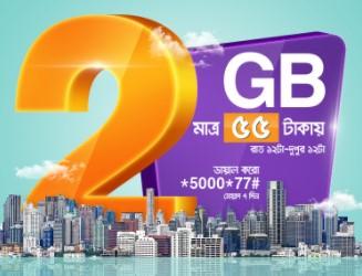 Banglalink 2GB Night Pack Internet 55 TK Offer
