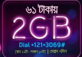 GP 2GB 61 TK Night Internet Pack