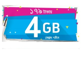 GP 4GB Internet 179 TK Offer 2017