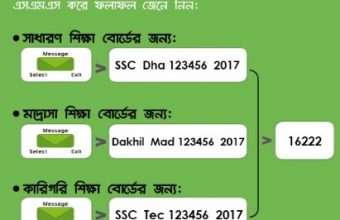 SSC Result 2017 Check by SMS – Teletalk, GP, Robi, Banglalink, Airtel