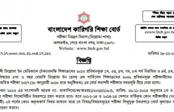 Diploma In Medical Technology Exam Routine 2019 – www.bteb.gov.bd