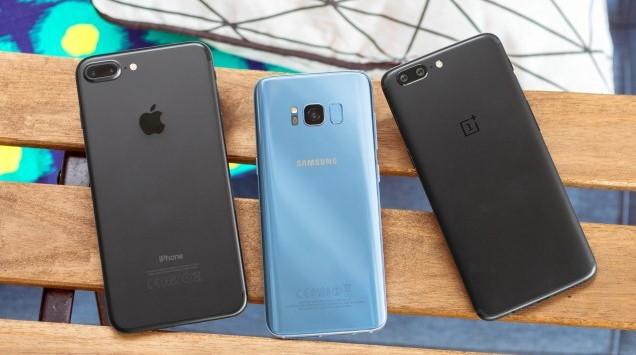 OnePlus 5 vs Samsung Galaxy S8 vs iPhone 7 Plus