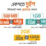 Banglalink 100% Bonus Offer on Internet Packs