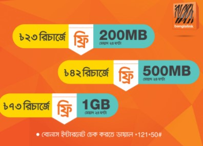 Banglalink Free Internet On Recharge