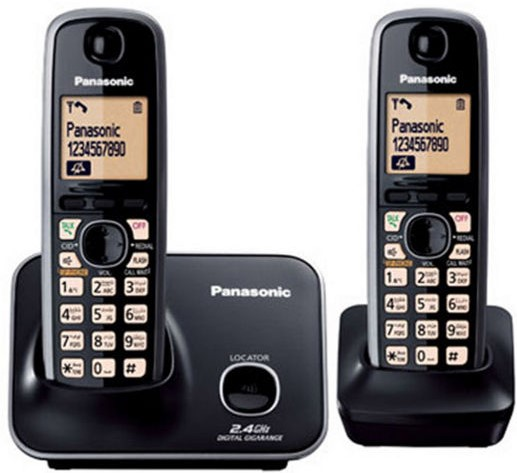 Panasonic KX-TG3712 Cordless Caller ID Dual Handset Phone
