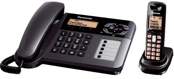 Panasonic KX-TG6458 BX Corded-Cordless Combination Telephone