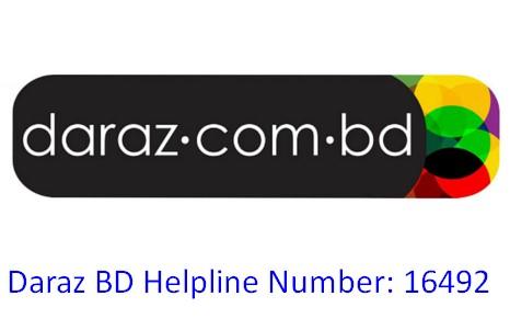 Daraz BD Helpline Number 16492