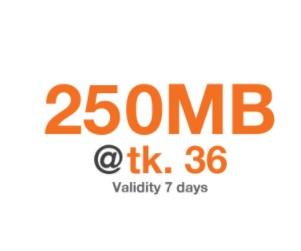 Banglalink 250 MB 36 TK Internet Offer