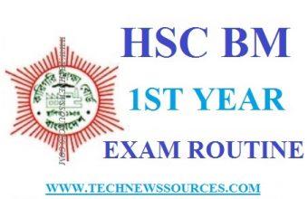 HSC BM 1st & 2nd Year Exam Routine 2019 – www.bteb.com.bd