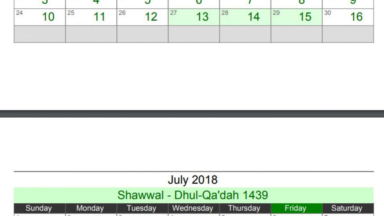 URDU CALENDAR 2018 APRIL MONTH - Islamic Hijri Calendar 2018