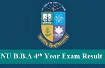 NU BBA 4th Year Exam Result 2017 of Exam 2016 – www.nu.edu.bd