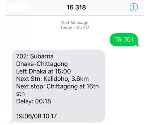 Bangladesh Train Location and Timing Check By Mobile SMS