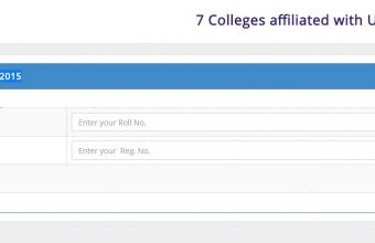 DU 7 College Honours 4th Year Exam Result 2017
