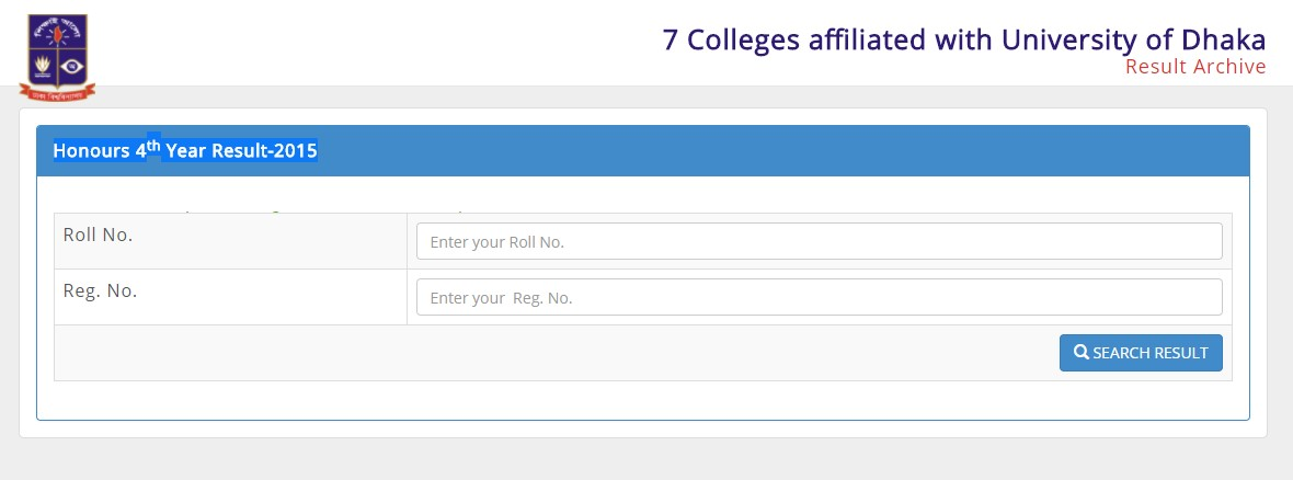 Dhaka University – DU 7 College Honours 4th Year Exam Result 2017