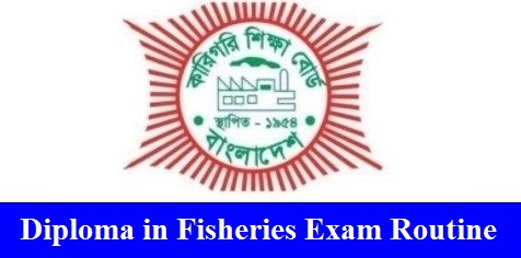 Diploma in Fisheries Exam Routine