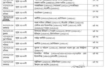 NU Degree 3rd Year Exam Routine 2017 – www.nu.edu.bd
