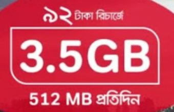 Robi 3.5GB 92 TK Internet Offer