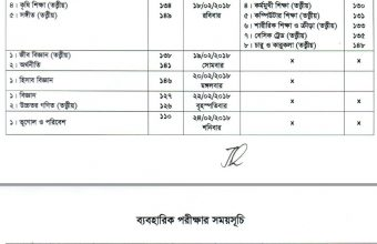 SSC Exam Routine 2018 – All Education Board Bangladesh