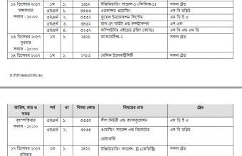 Diploma in Marine Engineering Exam Routine 2017 – www.bteb.gov.bd