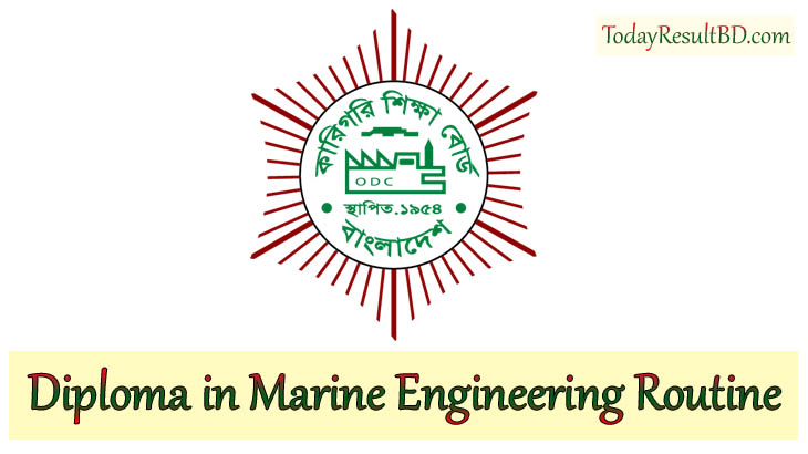 BTEB Diploma in Marine Engineering Exam Routine