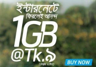 GP 1GB 9 TK Internet Offer December, 2017