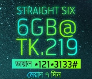 GP 6GB 219 TK Internet Offer 2018
