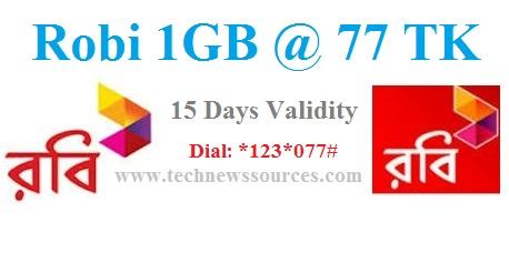Robi 1GB 77 TK