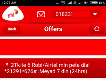 Robi 6 Minutes 2 TK Offer