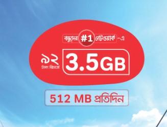 Airtel 3.5GB 92 TK