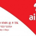 Airtel 500 SMS 5 TK Offer