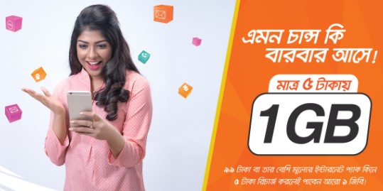 Banglalink 1GB 5 TK Offer 2018