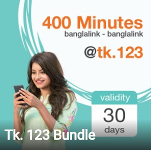 Banglalink 400 Minutes 123 TK Offer