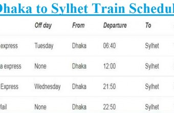 Dhaka to Sylhet Train Schedule, Ticket Price 2019