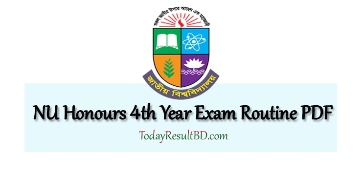 NU Honours 4th Year Routine PDF