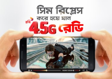 Robi 4.5G Active Code, Status Check and How to collect Robi 4G Enabled SIM with the Robi 4.5G Free Internet Offer