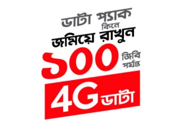 Robi 4G 100GB Internet Bonus Offer