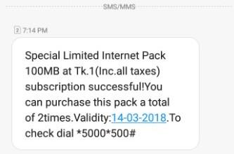 Banglalink 100 MB 1 TK Offer (Maximum 2 Times)