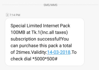 Banglalink 100 MB 1 TK Offer