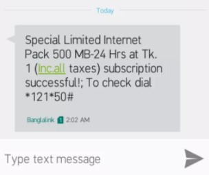 Banglalink 500 MB Internet 1 TK Offer 2018