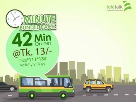 Teletalk 42 Minutes 13 TK Offer
